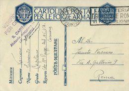 FRANCHIGIA WWII POSTA MILITARE 11 RAGG ART CORPO ARMATA CORMONS 1940 X ROMA - 1900-44 Vittorio Emanuele III