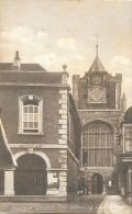 St Mary's Church - Rye - Shewing Clock - Published By J. Harvey - Rye