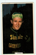 Gilbert DESMET - Publicité  Vélo Chewing Gum - Cyclisme - Equipe  GROENE LEEN -  2 Scans - Cyclisme