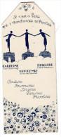 Marque-page CAROLINE- HORTENSE- BRIGITTE..couture Fourrures, Lingeries... (PPP1001) - Marque-Pages