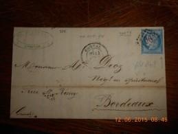 BA_14_lettre De Cognac,variété A Voir Sur N°60Type 2;rare - Postmark Collection (Covers)