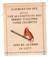 (TABAC) Peite Pub Pour Les Alumettes (PPP1003) - France