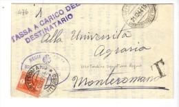 VOL476 - LUOGOTENENZA , Tassa A Carico Destinatario Viterbo 21/12/44 - Segnatasse