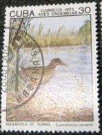 Cuba 1975 Birds Cyanolimnas Cerverai 30c - Used - Cuba