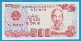 VIETNAM  500 Dong  1988  SERIE MC  P# 101a  Ho Chi Minh - Vietnam
