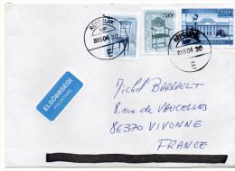 2015--Lettre De Hongrie  REPCELAX Pour La France---composition De Timbres - Hongrie