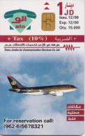 JORDAN PHONECARD AIRPLANE  A 40-15000pcs-12/98-USED(2) - Airplanes