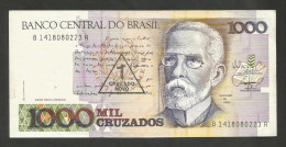 BRASIL - BANCO CENTRAL Do BRASIL - 1000 CRUZADOS / 1 CRUZADO NOVO With Counterstamp - Brasile