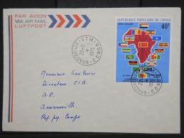 CONGO-Enveloppe De Brazzaville Pour Brazzaville  En 1975  Aff Plaisant à Voir  P6271 - Congo - Brazzaville