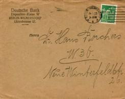 Bankenbrief Aus Berlin 1923 Mit EF 244 Dt. Reich - Germania