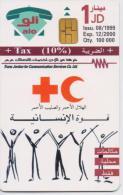 JORDAN PHONECARD RED CROSS A 56-100000pcs-8/99-USED(2)