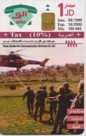 JORDAN PHONECARD ARMY DAY A 48a-150000pcs-6/99-USED(2)