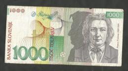 SLOVENIA - BANKA SLOVENIJE - 10 / 20 / 50 / 100 / 200 / 500 / 1000 TOLARJEV (1992) - LOT Of 7 DIFFERENT BANKNOTES - Slovenia