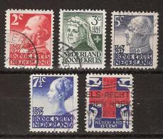 NVPH Nederland Netherlands Pays Bas Holanda 203,204,205,206,207 Used  Rode Kruis, Red Cross, Croix Rouge, Cruz Roja 1927 - Periode 1891-1948 (Wilhelmina)