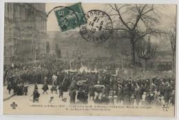 87 - LIMOGES - LE SQUARE DE L'HOTEL DE VILLE - FUNERAILLES DU DOCTEUR CHENIEUX - Limoges