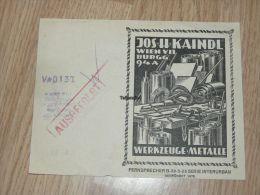 Jos H Kaindl Wien Rechnung Werkzeuge Metalle - Austria