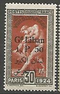 GRAND LIBAN  N° 47 VARIETEE RECTO-VERSO NEUF*  CHARNIERE / MH / 2 SCANS