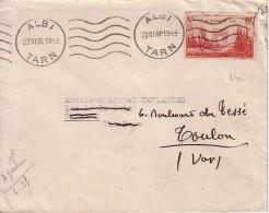N°403 - ANNIVERSAIRE DE LA VICTOIRE SEUL SUR LETTRE - ALBI - TARN - 22-11-1938. - 1921-1960: Modern Period