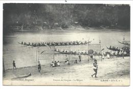 ///  CPA Asie - Asia - LAOS - Courses De Pirogues - Le Départ   // - Laos