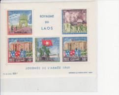Bloc Feuillet ** JOURNEE DE L'ARMEE 1968 - Laos