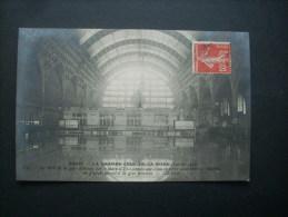 Paris La Grande Crue De La Seine Le Hall De La Gare D'orsay - Nd 133 Circulée 1910 L205A - Inondations De 1910
