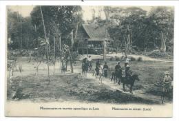 ///  CPA Asie - Asia - LAOS - Missionnaires En Tournée Apostolique    // - Laos