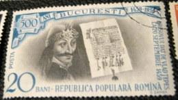 Romania 1959 The 500th Anniversary Of Bucharest 20b - Used - 1948-.... Republics
