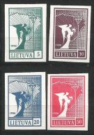 Litauen, 1990, 457/60, Freimarken: Friedensengel., MNH  O.G. - Lituania