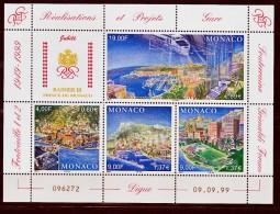 Monaco 2221 2224 En Feuillet Projets  1999  Neuf ** TB MNH SIN CHARNELA  Faciale 6.23 - Ungebraucht