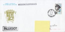 Missions Suspendues - Paquebot 2001 Xavier-Charles Richert - Terres Australes Et Antarctiques Françaises (TAAF)