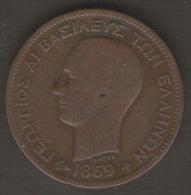 GRECIA 5 LEPTA 1869 - Grecia
