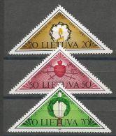 Litauen, 1991, 477/79, 50. Jahrestag Der Tragischen Juni-Ereignisse, MNH ** - Lithuania