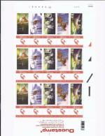 BELGIQUE - BELGIE Mijn Zegel Lot Van 15 Postzegels BAMBI Volledig Vel - Belgique