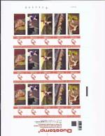 BELGIQUE - BELGIE Mijn Zegel Lot Van 15 Postzegels SNEEUWWITJE Volledig Vel - Belgique