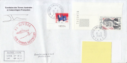 Courrier Posté à Bord, Posted At Sea FS Nivôse, Alfred Fauré Crozet 2009 - Terres Australes Et Antarctiques Françaises (TAAF)