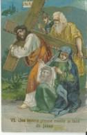 Une Pieuse V Essuie La Face De Jesus - Jésus