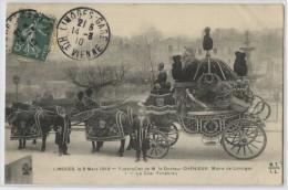 87 - LIMOGES - FUNERAILLES DU DOCTEUR CHENEUX - LE CHAR FUNEBRE - Limoges