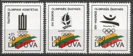 Litauen, 1992, 496/98, Olympische Spiele, MNH ** - Lithuania