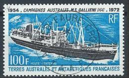 TAAF Poste Aérienne Oblitéré N° 29 De 1973 Bateaux Galliéni - Poste Aérienne