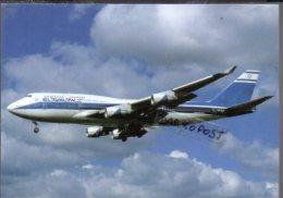 Boeing B747-458  4X-ELC Air EL AL Airlines B.747 Cartes Avion B 747 Avion B-747 Israele - 1946-....: Era Moderna