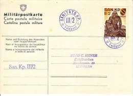 CARTE MILITAIREE AVEC VIGNETTE MILITAIRE:SANITATS KP III/2 - Documents