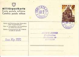 CARTE MILITAIREE AVEC VIGNETTE MILITAIRE:SANITATS KP III/2 - Military Post