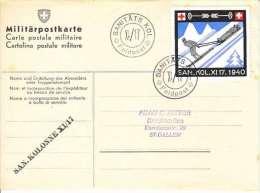 CARTE MILITAIREE AVEC VIGNETTE MILITAIRE:MIL SANITATS KOL XI/17 - Documents