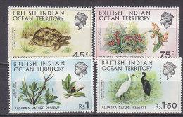 PGL CJ118 - BRITISH INDIAN OCEAN BIOT Yv N°39/42 ** ANIMAUX ANIMALS - Territoire Britannique De L'Océan Indien