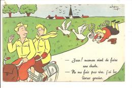 HUMOUR - Illustrateur CHEN - Jean! Maman Vient De Faire Une Chute. - Ne Me Fais Pas Rire, J'ai Les Lèvres Gercées - Otros Ilustradores