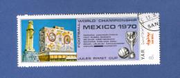 YEMEN  Y.A.R. FOOTBALL MEXICO 1970 OBLITERE 2. SCANNE - Yémen