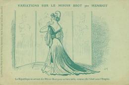 Illustrateurs - Illustrateur Henriot - Publicité - Femmes - Femme - Variations Sur Le Miroir Brot - La République - état - Henriot