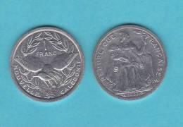 NUEVA CALEDONIA   1  FRANCO  2.002  Aluminio  KM#10  SC/UNC   DL-9467 - Nueva Caledonia