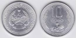 Laos 10 Att 1.980 Aluminio KM#22 SC/UNC        T-DL-10.313 - Laos
