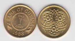 Guyana 1 Céntimo 1.988 Niquel-Latón KM#31 SC/UNC         T-DL-10.311 - 1 Penny & 1 New Penny